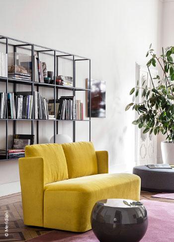 Sofa gelb Zweisitzer von Meridiani